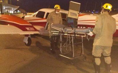 CRE e Corpo de Bombeiros possibilitam transferência aérea de paciente em estado grave